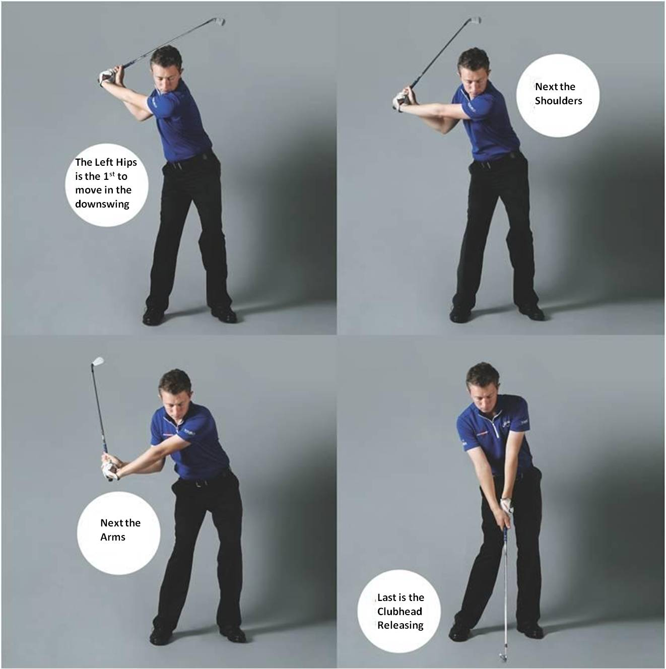 how to turn hips in downswing