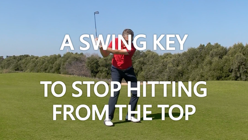 A SWING KEY to stop hitting from the top